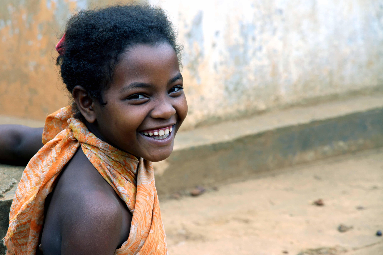 Lachendes Mädchen Madagaskar