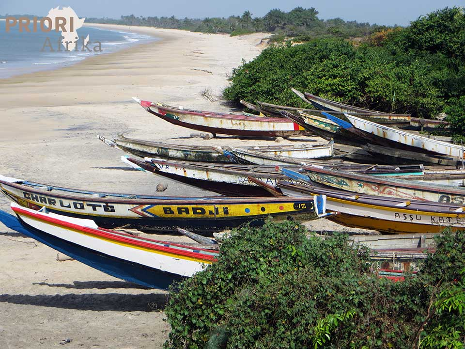 Guinea Bissau Reisen Boote PRIORI Afrika
