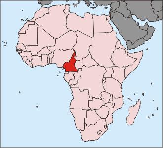Kamerun Afrika Karte