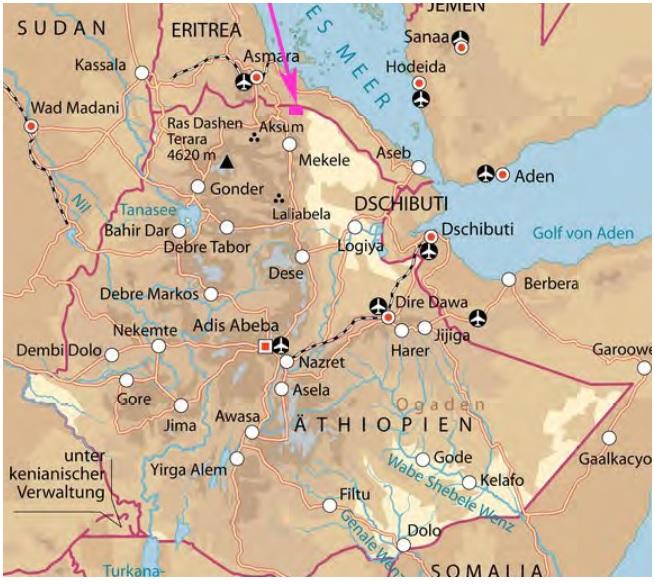 Das Irobland liegt im Norden Äthiopiens an der Grenze zu Eritrea.