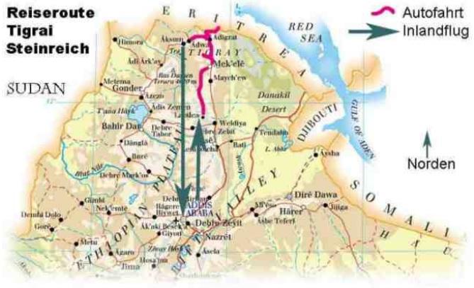 Äthiopien Reise Route Irobland