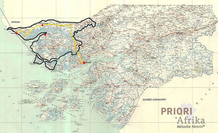 Guinea Bissau Reisen PRIORI Afrika Reiseroute Tour Norden