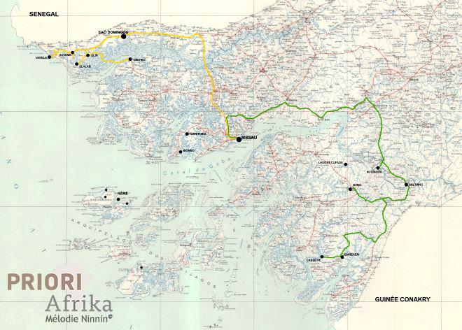 Guinea Bissau Reisen PRIORI Afrika Reiseroute Tour Nord nach Süd