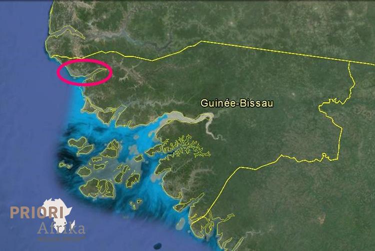 Guinea Bissau Landkarte Karte PRIORI Afrika Reisen