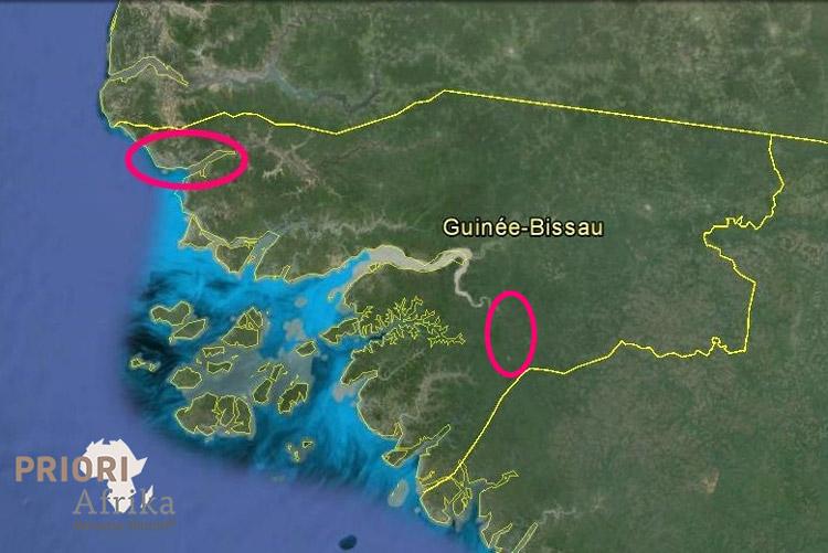 Guinea Bissau Reisen Karte Landkarte PRIORI Afrika Norden Süden